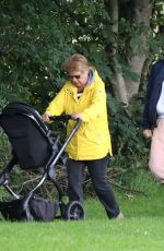 Gemma Atkinson Out for a morning dog walk with her mother and daughter in Manchester