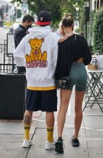 Hailey Bieber & Justin Bieber Are seen waiting in line for a table in West Hollywood