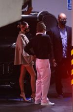 Hailey Bieber & Justin Bieber Hold hands as they arrive for dinner at Catch LA in West Hollywood