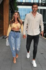 Holly Hagan On Date Night at The Ivy in Manchester