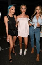 Holly Hagan On nightout with Ex on the Beach Leonie, Che Mcsorley and Zahida Allen at Dukes92 bar in Manchester