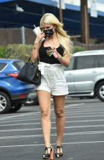 Holly Madison Stops at a studio in LA