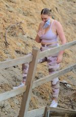 Iskra Lawrence Showed off her curves as she took an intense hike in Los Angeles