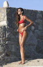 Izabel Goulart Showing off her super tanned sultry physique on a sexy photoshoot at her hotel in Mykonos