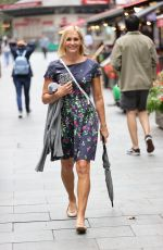 Jenni Falconer At Smooth radio in floral summer dress in London