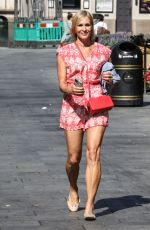 Jenni Falconer Departing at the Global Radio Studios in London