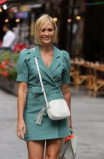 Jenni Falconer Makes stylish exit in short dress in London