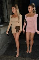 Jess and Eve Gale seen heading to dinner in Liverpool