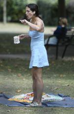 Jessica Brown-Findlay At a park in London