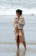 Jordana Brewster Out at a Beach in Malibu
