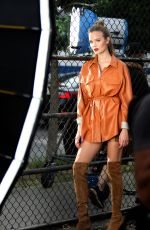 Josephine Skriver At a Maybelline Photoshoot in NYC