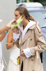 Josephine Skriver On the set of a Maybelline shoot in NYC