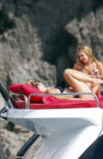 Kate & Lila Grace Moss Enjoying a summer holiday on board of a luxury yacht in Ibiza