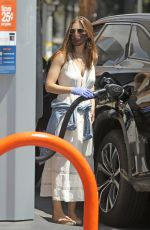 Kate Mara Pumping gas in LA
