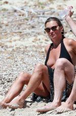 Kate Moss Enjoying her summer holiday with Lila Grace in Formentera