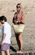 Kate Moss Indulges in a her food tucking in to a healthy lunch meal whilst on her holidays in Formentera
