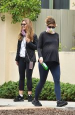 Katherine Schwarzenegger Out walking in the morning with her mom Maria Shriver in Brentwood