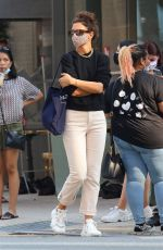 Katie Holmes Exit from the Acne Studios store in Downtown Manhattan