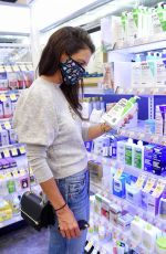 Katie Holmes Shopping for face lotion in NYC