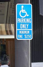 Katy Perry Risks a $250 ticket parking in a disabled bay in Santa Barbara