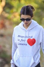 Kendall Jenner Hiking in Malibu with her dad and a friend in Malibu