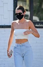 Kendall Jenner Leaving 40 Love restaurant after lunch with friends in West Hollywood
