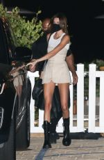 Kendall Jenner Shows her legs off at Nobu in Malibu
