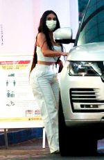 Kim Kardashian Donning all white while leaving her dermatologist in Beverly Hills