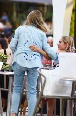 Kimberley Garner Joined for al fresco drinks by her parents Geraldine Garner and Russell Garner in London