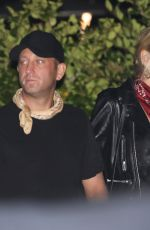 Kimberly Stewart Dines at Nobu Malibu with a male companion in Malibu