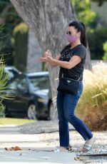 Kyle Richards Keeps it Safe as She Applies Hand Sanitizer Before Shopping in Los Angeles
