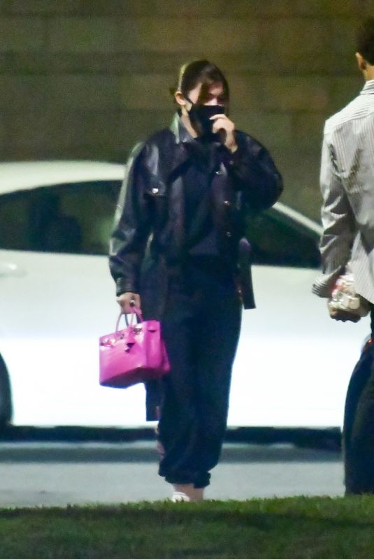 Kylie Jenner Photographed arriving from Paris in private terminal at LAX in Los Angeles