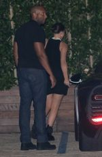Kylie Jenner Rocks a mini black dress as she arrives at SoHo house for dinner in Malibu