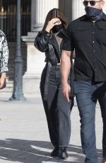 Kylie Jenner Visiting the Louvre museum with friends in Paris