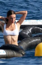 Lara Lieto Shows off her curves in a white bikini in South of France