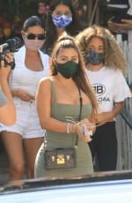 Larsa Pippen At the Ivy in Beverly Hills