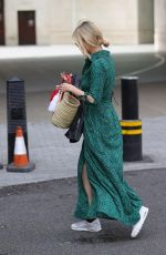 Laura Whitmore Leaving BBC studios in London