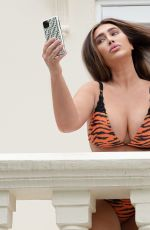 Lauren Goodger At a bikini photoshoot in London