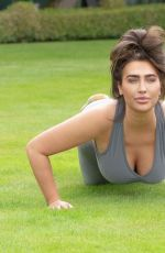 Lauren Goodger Working out in an Essex local park