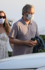 Leslie Mann and Judd Apatow have dinner with their daughter Iris at Nobu in Malibu