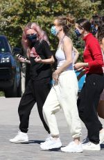 Leslie Mann, her daughter Iris and Maude, along with a friend, pictured at Whole Foods in Malibu