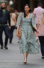 Lilah Parsons Wearing a beautiful floral summer dress in London