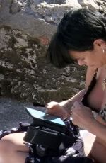 Lily Allen In animal printed bikini lapping up the hot Italian sunshine on her holidays out in Capri