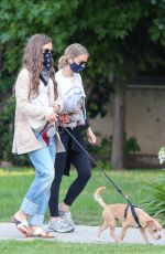 Lily Collins Walking her dog in LA