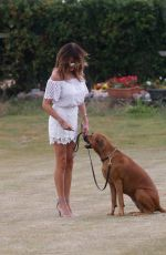 Lizzie Cundy Spotted out and about walking her dog for her daily exercise in London