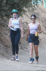 Lucy Hale Goes on a hike with a friend at Fryman Canyon in Los Angeles