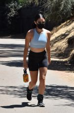 Lucy Hale Going for a hike at Fryman Canyon in Studio City