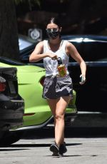 Lucy Hale Going on a solo hike in Studio City, California