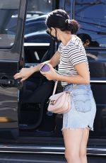 Lucy Hale Going to her dentist in Toluca lake