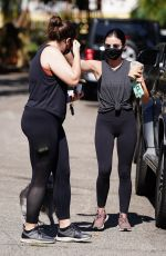 Lucy Hale With a friend at Valley Village Park in Studio City